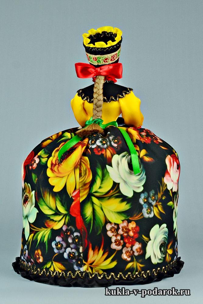 Жостовская кукла с бантом и косой