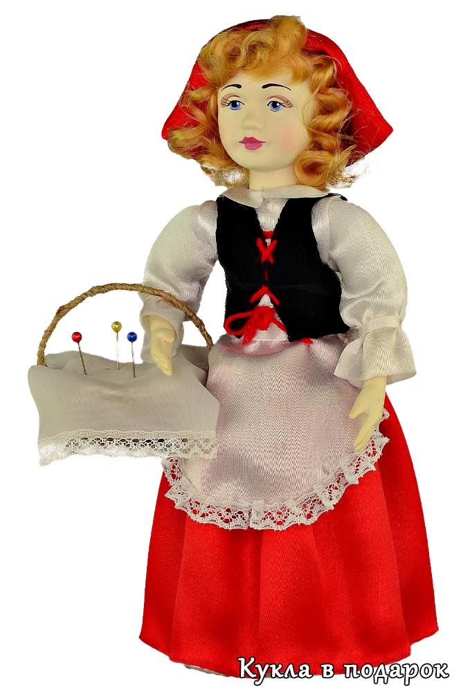 Кукла игольница Красная Шапочка подарок девочке
