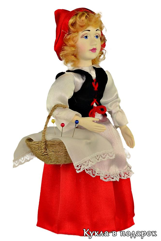 Кукла Красная Шапочка с корзинкой