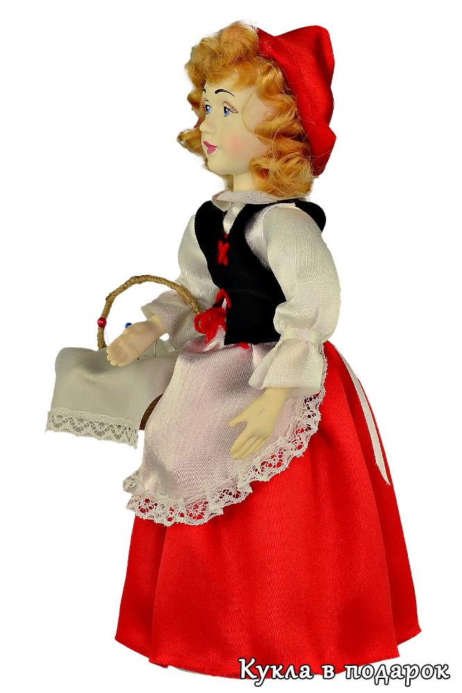 Кукла Красная Шапочка с лукошком