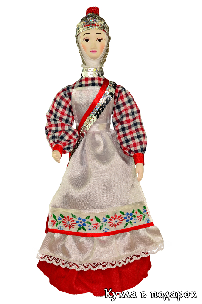 Куклы в чувашских национальных костюмах
