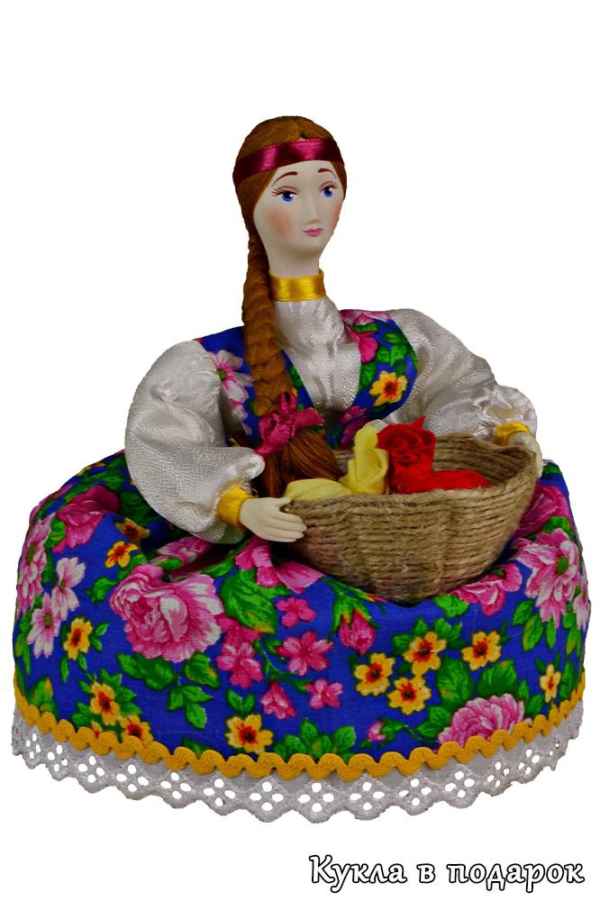 Кукла травница для сбора сушеных трав