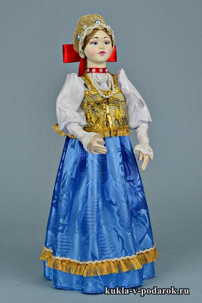 Национальный подарок кукла в русском костюме