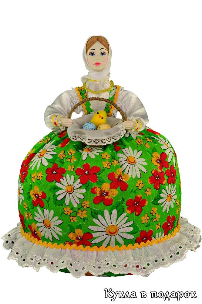 Подарок на Пасху кукла грелка