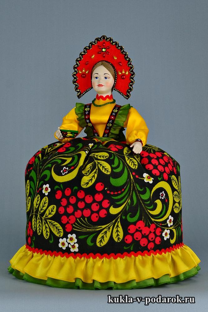 Русская Хохлома кукла грелка на чайник