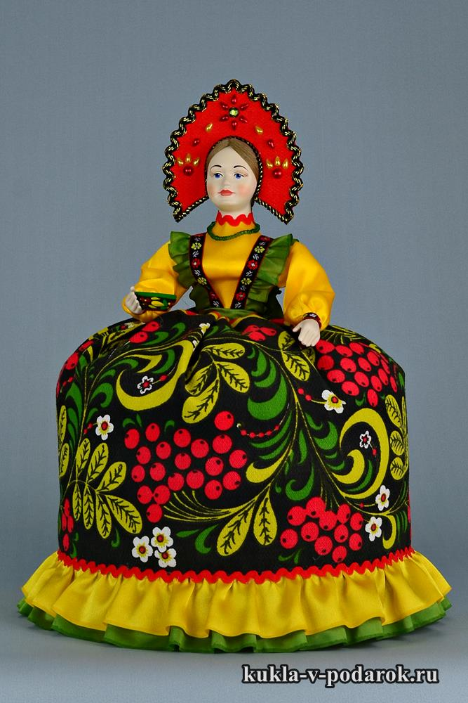 Кукла Хохлома русский подарок