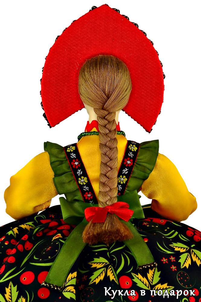 Кукла Хохлома с русской косой