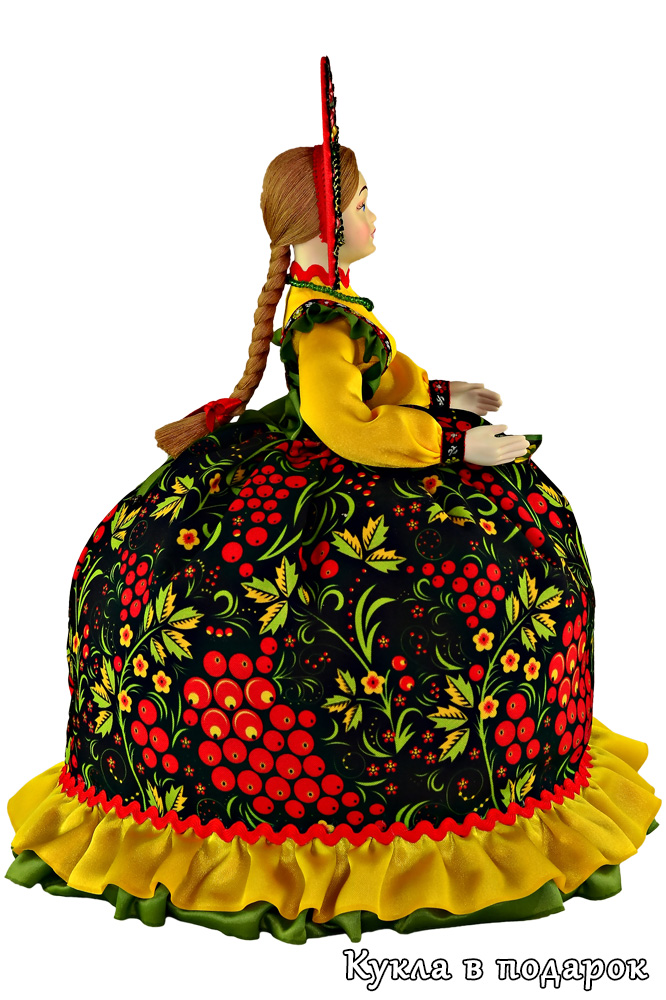 Кукла Хохлома в кокошнике