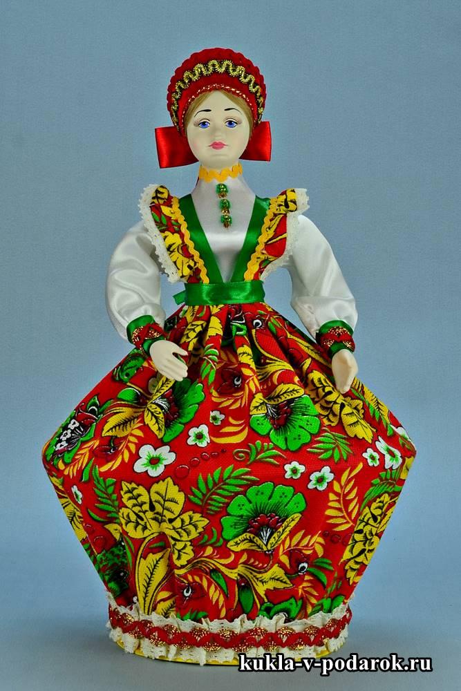 Русская шкатулка кукла в подарок маме