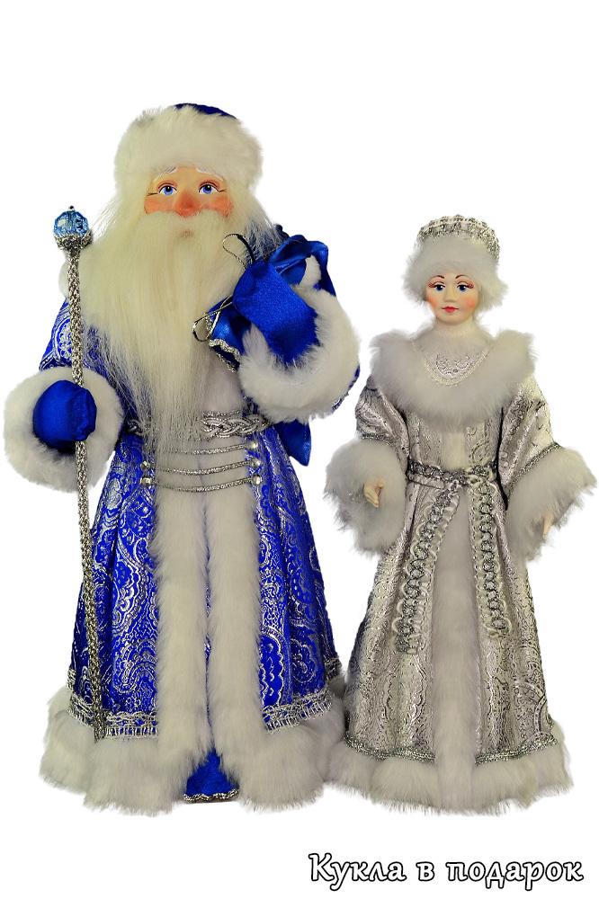 Новогодние куклы Дед Мороз и Снегурочка
