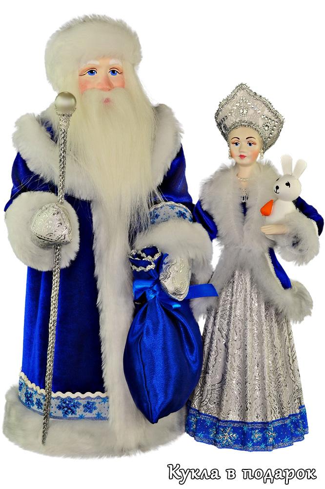 Новогодние куклы игрушки Дед Мороз и Снегурочка