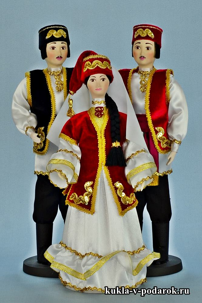 Татарские сувенирные куклы
