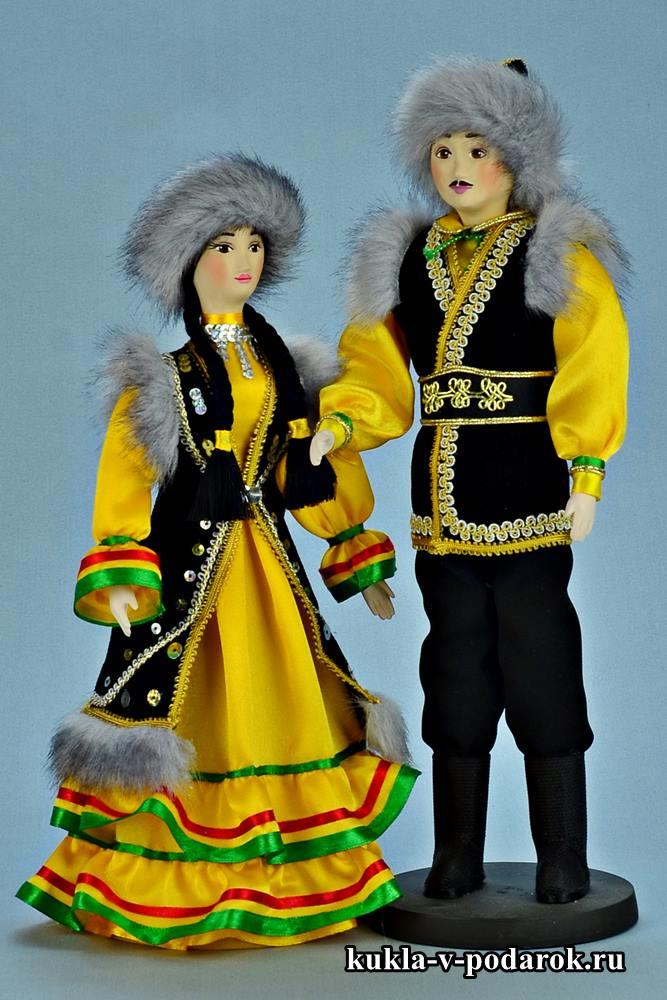 Набор башкирских кукол в народном костюме