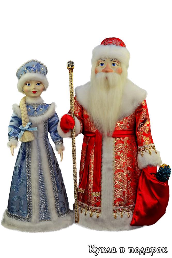 Дед Мороз и Снегурочка ручной работы