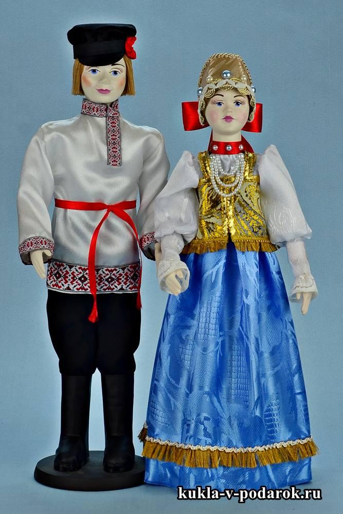 Русские куклы в народных костюмах