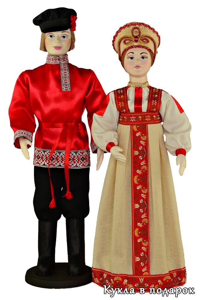 Русские народные куклы Иван да Марья