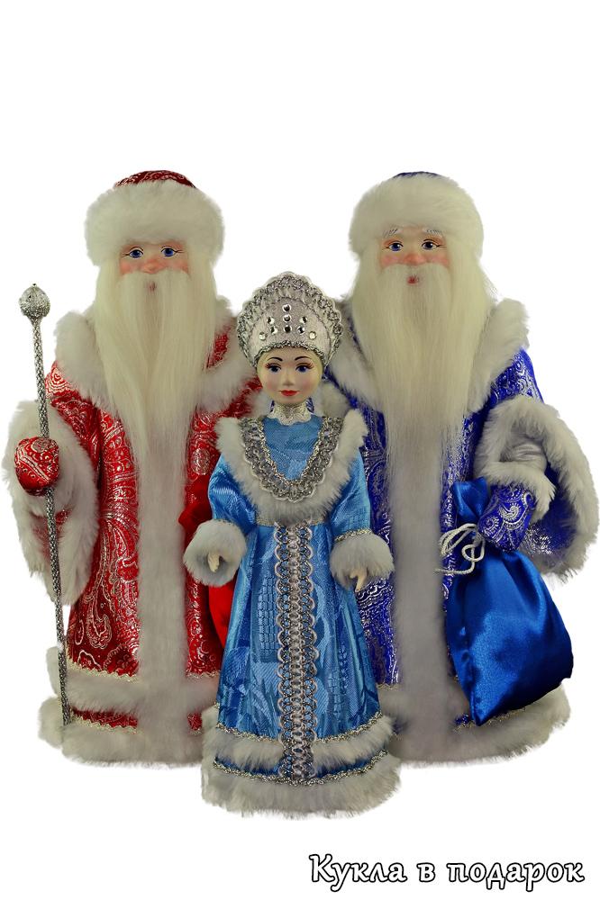 Новогодние сувениры куклы Дед Мороз и Снегурочка