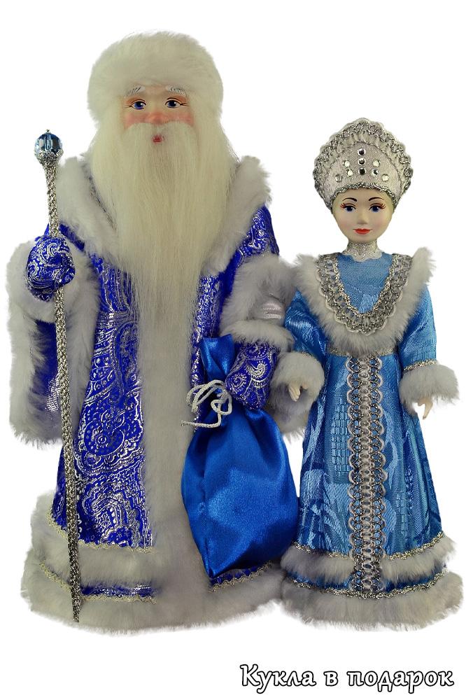 Корпоративные новогодние сувениры в подарок Дед Мороз и Снегурочка